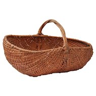 Fine Large Woven American Buttocks Basket