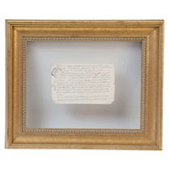 18th-Century Floating Vellum Framed French Document