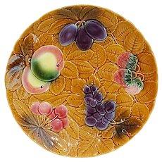 French Majolica Fruit Platter, Sarreguemines