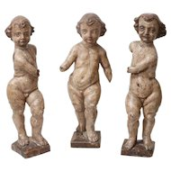 Antique Italian Putti Angels on Stands