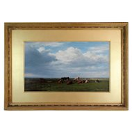 Antique Pastoral Landscape with Cattle, William Luker