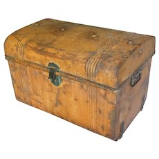Antique English Metal Chest Trunk Storage