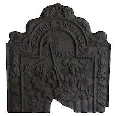 19th-Century Dutch Cast Iron Fireback