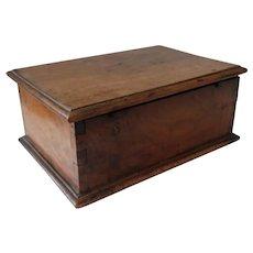 Antique French Solid Walnut Box