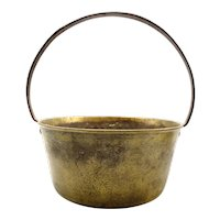 Antique English Brass & Iron Hearth & Jam Pot