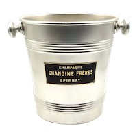 French Champagne / Wine Cooler Bucket, Chanoine Frères Epernay Company