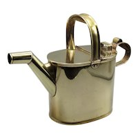 Early English Solid Brass Hot Water Kettle Watering Can