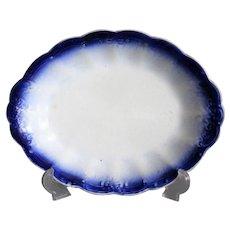 Antique La Francaise Flow Blue Platter