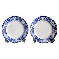 Flow Blue Athol Plates, Doulton Burslem, Pair