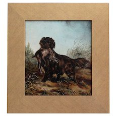 Spaniel Sporting Dog Study, Oil on Board