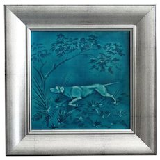 19th-Century Minton Art Tile Sporting Game Dog