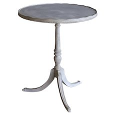 Gustavian-Style Pedestal Table with Gallery