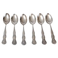 Sterling Silver Demitasse Spoons, Set of 6