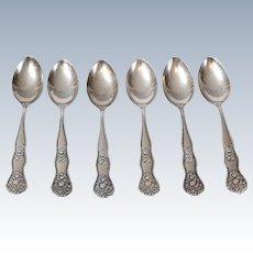 Sterling Silver Demitasse Spoons, Set of 6