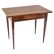 Antique Italian Directoire Walnut Table / Desk with Drawer