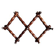French Faux Bamboo Coat & Hat Rack, Accordion, Expandable