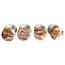 English Game Birds Trinket Box Dish, Set of 4