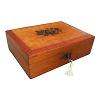 1930, Mauchline Ware Sewing Box, Lock & Key