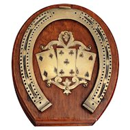 Antique English Equestrian Cribbage Game