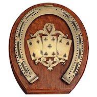 Antique English Equestrian Cribbage Game