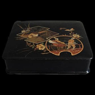 French Chinoiserie Papier Mache Box