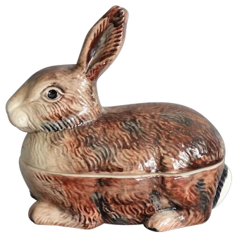 French Rabbit Covered Pâté Tureen, Appetizers