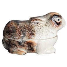 French Faience Rabbit Covered Pâté Tureen, Appetizers