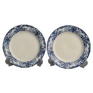 Flow Blue Athol Plate, Doulton Burslem, Pair