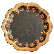 Antique Papier Mache Coaster Tray, English, 19th-Century