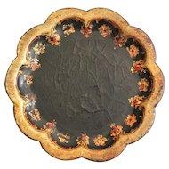 Antique Papier Mache Coaster Tray, English, 19th-Century