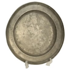 Antique Pewter Charger / Platter, Touch Mark, Continental