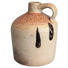 Antique Stoneware Jug, Orange Peel, Turkey Droppings, Salt Glaze
