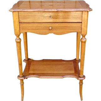 Antique French Inlay Dressing Vanity Side Table Circa 1920's