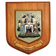 Edinburgh Scotland Wood Crest Hanging Wall Plaque