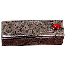 Vintage sterling silver lipstick case