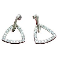 Vintage sterling silver zirconia earrings