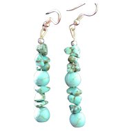 Vintage handmade turquoise earrings