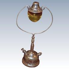 Vintage sterling silver decorative lamp