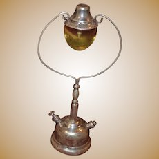 Vintage sterling silver decorative lamp