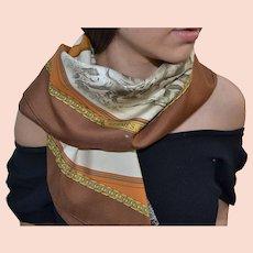Hermes authentic silk scarf Armes de Chasse by Ph. Ledoux vintage
