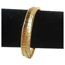 Vintage gold plated handmade bracelet