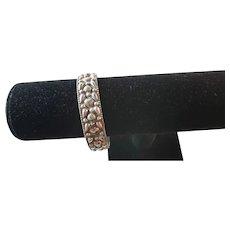 Vintage sterling silver carved bracelet