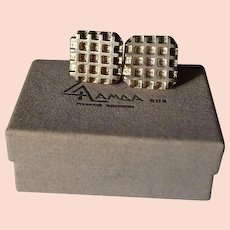Vintage sterling silver cufflinks of LALAOUNIS