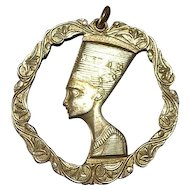 Sterling silver gold plated egyptian pendant