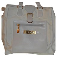 Moschino Redwall handbag authentic in off white color