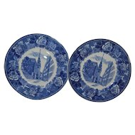 Wedgwood Plates set of two Blue and White collectible