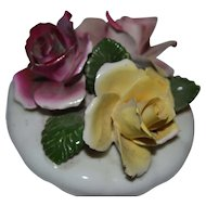 Vintage Chorley English Bone China Rose Flowers Figurine
