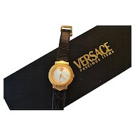 GIANNI VERSACE gold plated wrist watch