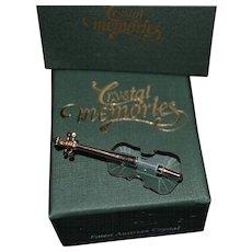 Vintage Swarovski miniature violin