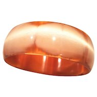 Lucite Moonglow Butterscotch Bangle Bracelet